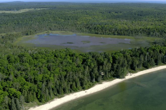 Washington Island's Big and Little Marsh State Natural Area, Photo by Joe Taylor.