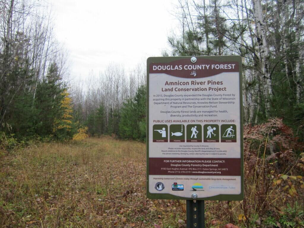 The amnicon River Pines conservation project is made possible by Knowles-Nelson grants to Dougal County, Wisconsin.