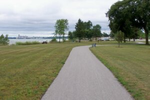 A bike path in Manitowoc, supported by the Knowles-Nelson Stewardship Program