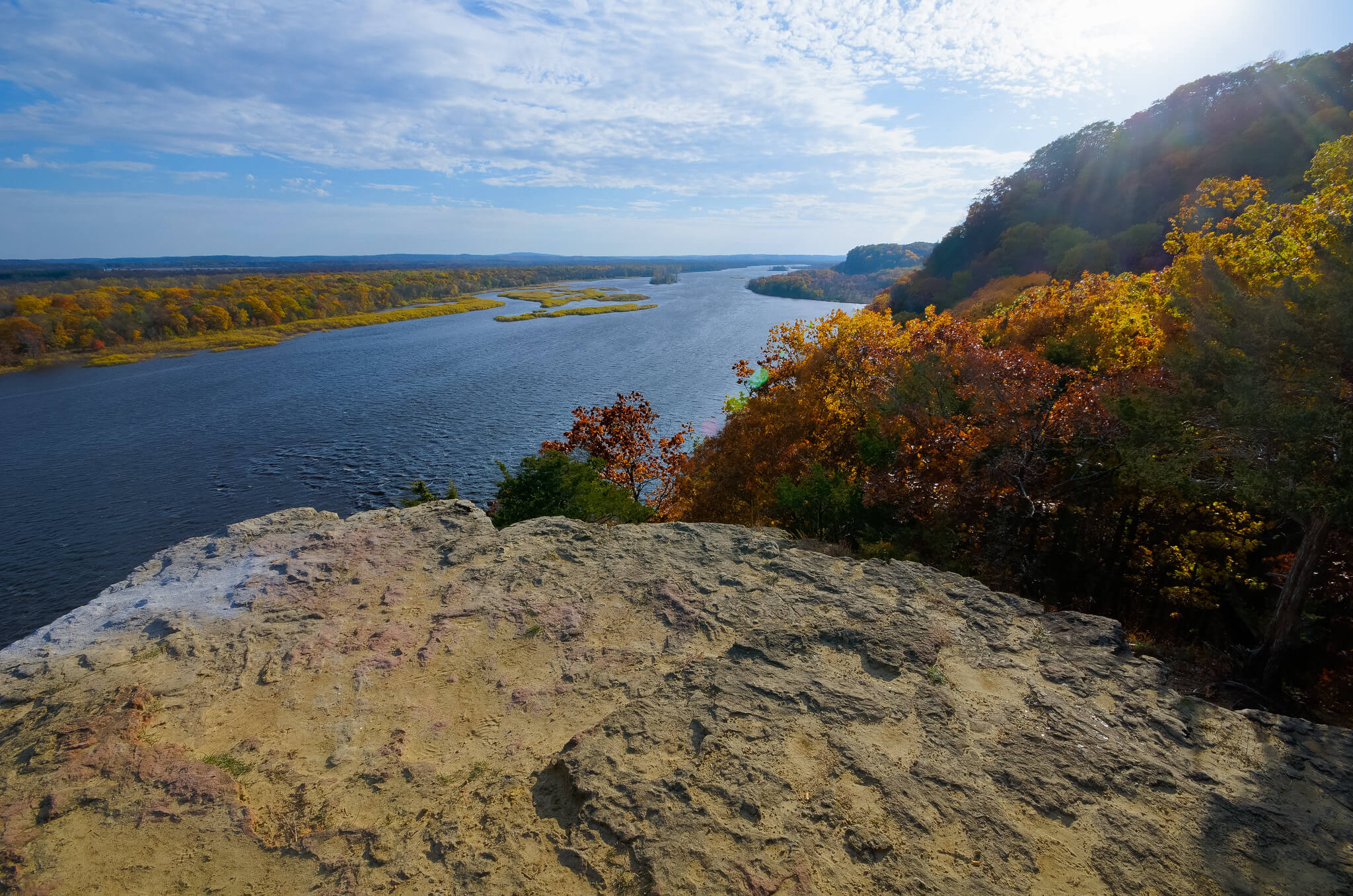 A bluff view of the Wisconsin River, mentioned in an article about renewing the Knowles-Nelson Stewardship Fund.
