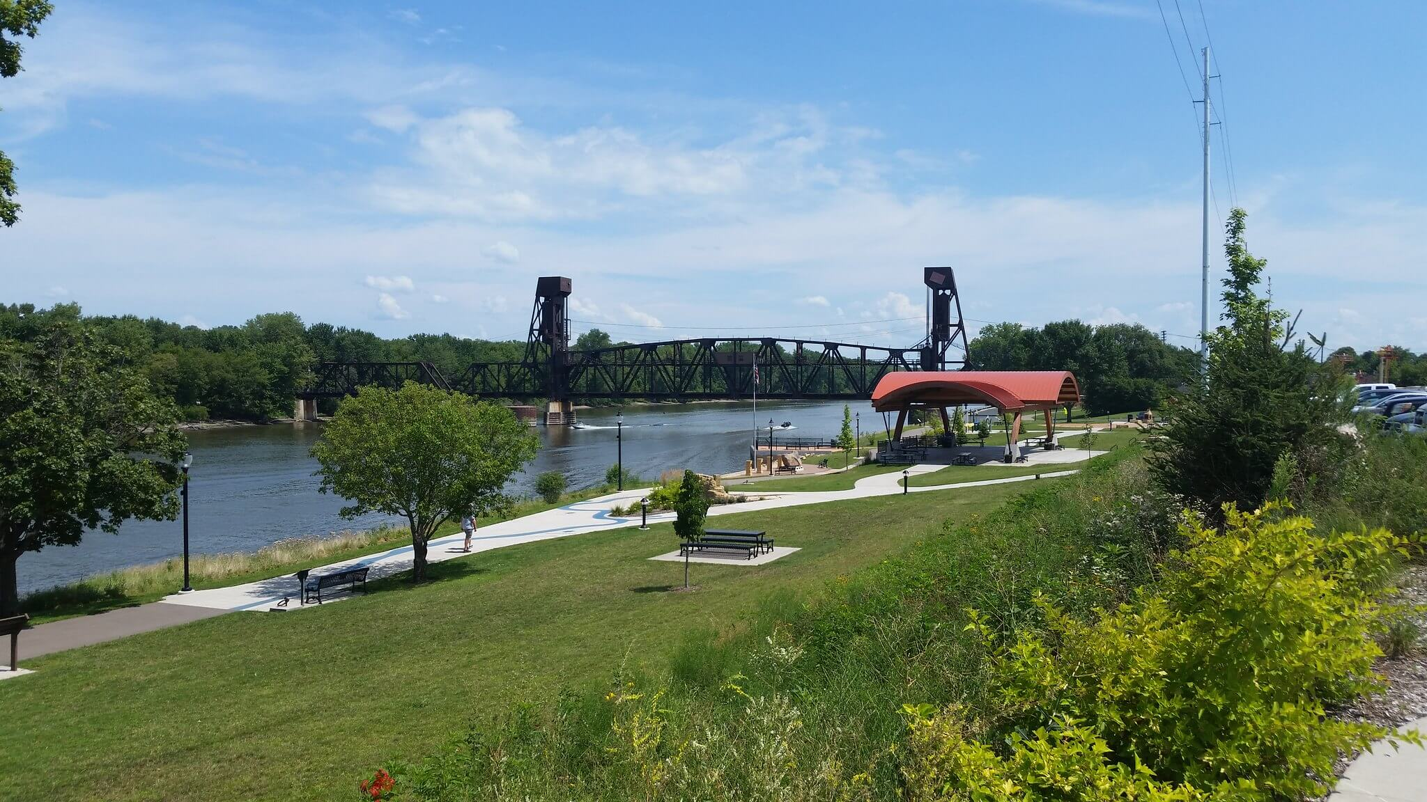 Bridge in Hastings, MN, where the Carpenter Nature Center is expanding thanks to Knowles-Nelson Stewardship Program funding.