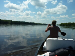 Canoeing on the Wisconsin River, where the city of Boscobel is seeking Knowles-Nelson funding to improve a boat launch.