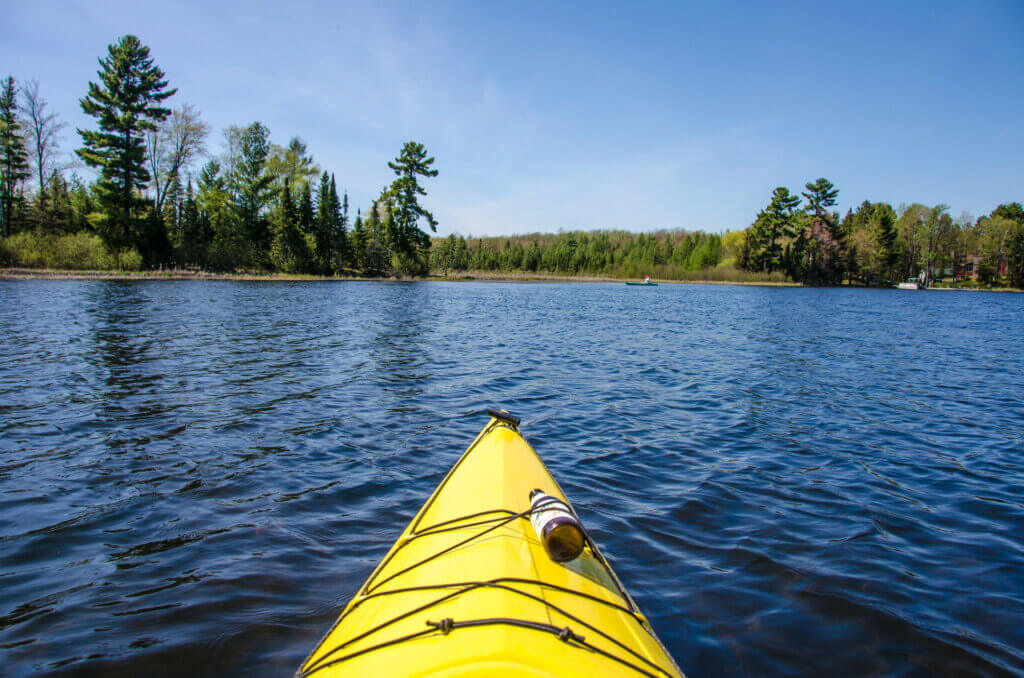 Kayaking in Rhinelander, where the Knowles-Nelson Stewardship Program has boosted outdoor recreation opportunities.