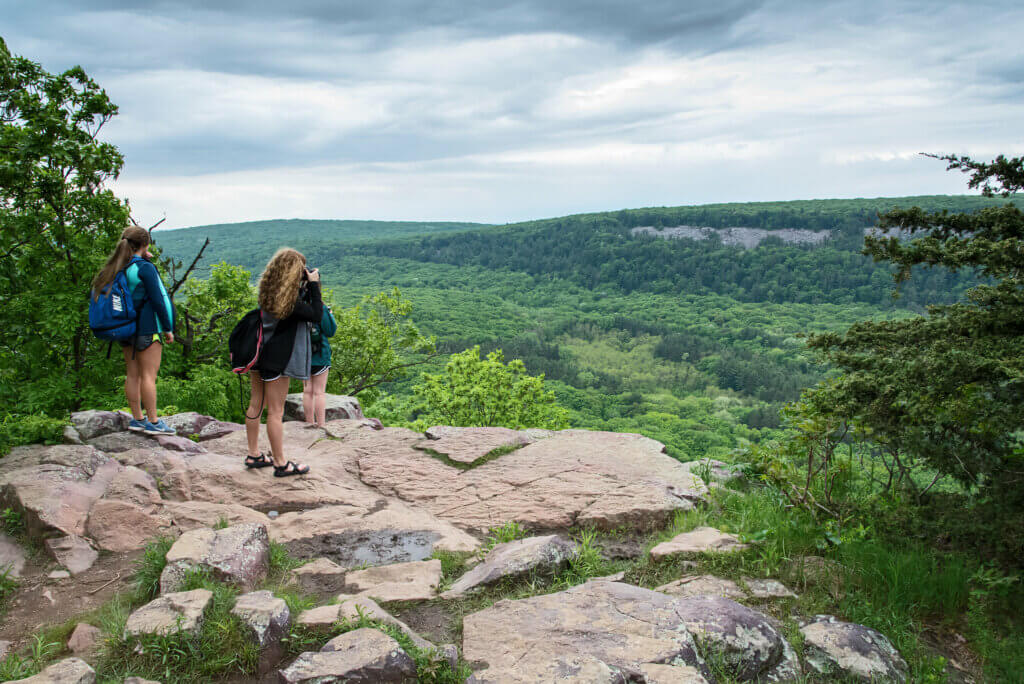Hikers at Devil's Lake State Park. State parks saw a surge in visits that prompted a proposal increase in Knowles-Nelson Stewardship funding.