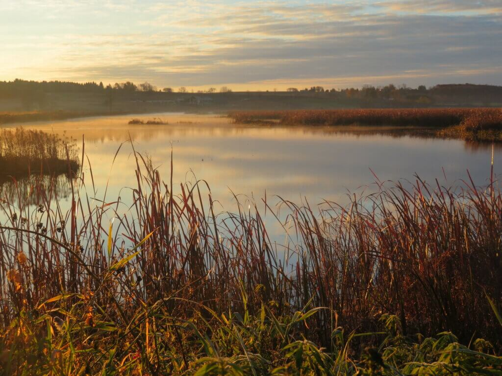 Sunset at Horicon Marsh, a natural area like those the Knowles-Nelson Stewardship Program can help protect.