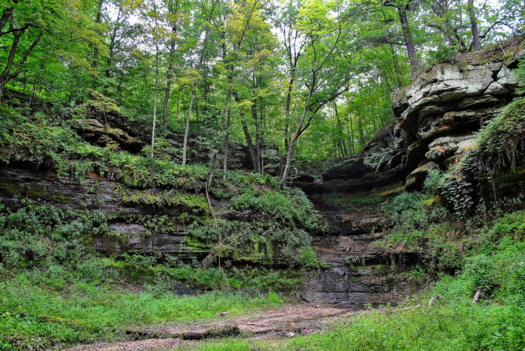 Devil's Punchbowl, which has been awarded a Knowles-Nelson Stewardship grant to fix the stairway.