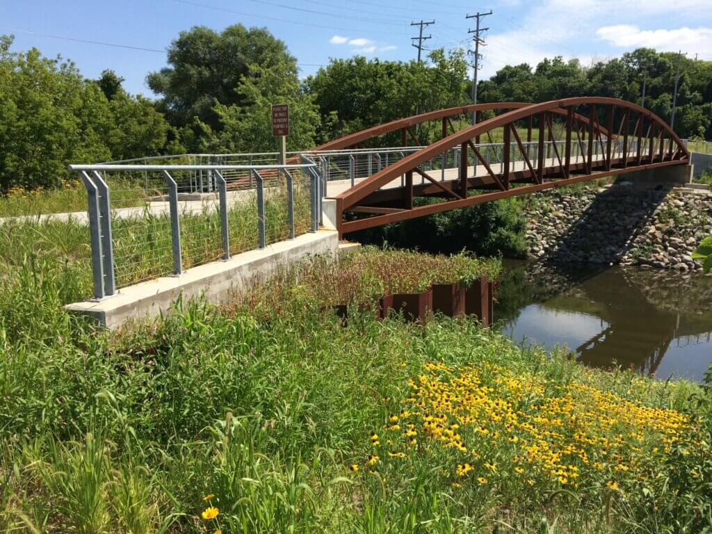 Three Bridges Park in Milwaukee, which was created with the help of the Knowles-Nelson Stewardship Program.