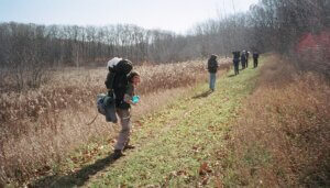 Hikers on the Ice Age Trail, which has benefitted from Knowles-Nelson funding.