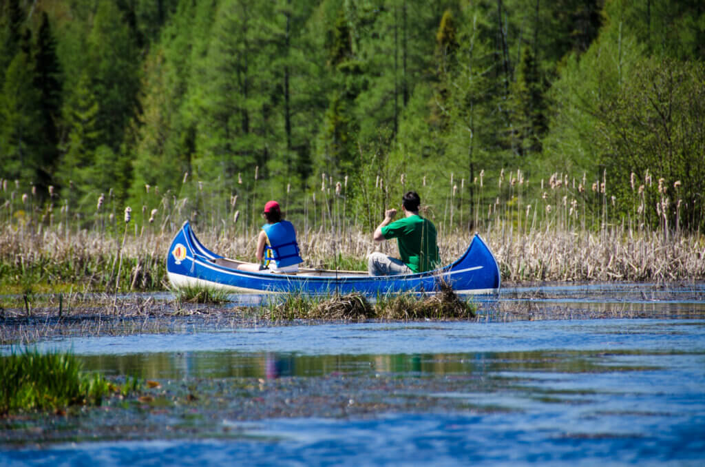 Canoers enjoy the water. Outdoor recreation increased during the pandemic, highlighting the need for more investment in the Knowles-Nelson Stewardship Program.