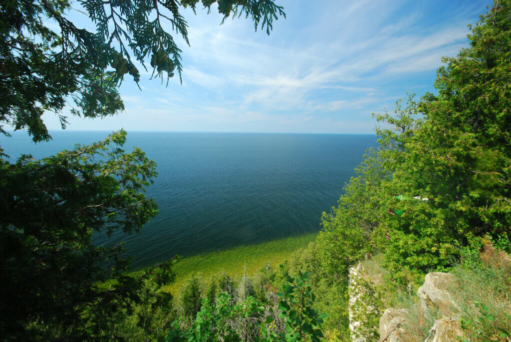 A bluff in Door County, where the Knowles-Nelson Stewardship Program has provided almost $31 million in investment in parks and trails.
