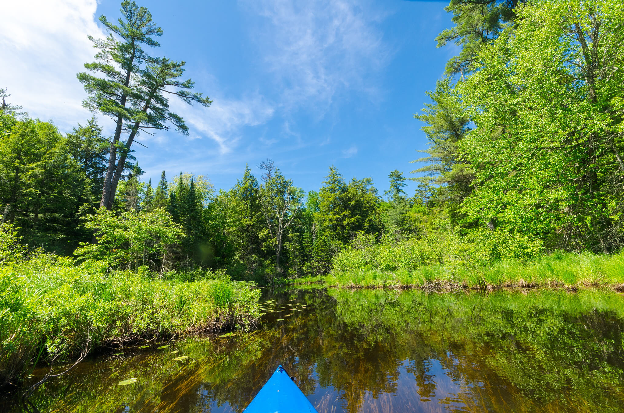 River in Vilas County, where the projects funded by the Knowles-Nelson Stewardship Program have helped attract new residents.