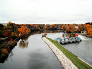 Fox River in Appleton, WI, where a promised Knowles-Nelson grant has been held up.
