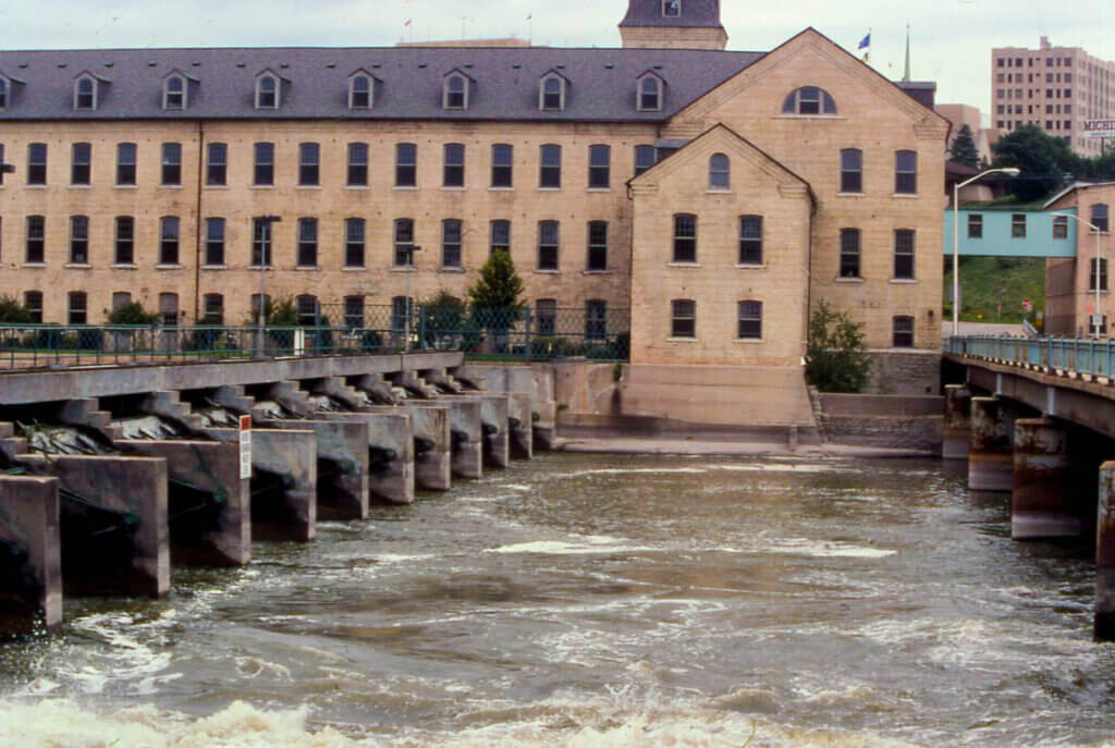 The Fox River in Appleton, which finally received a promised grant from the Knowles-Nelson Stewardship Program.